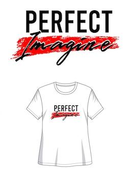 プリントtシャツの完璧な想像
