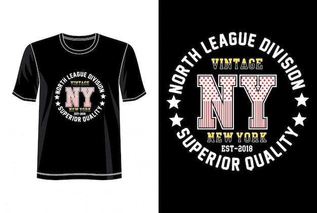 プリントtシャツのニューヨークタイポグラフィ