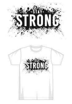 プリントtシャツの強力なタイポグラフィ