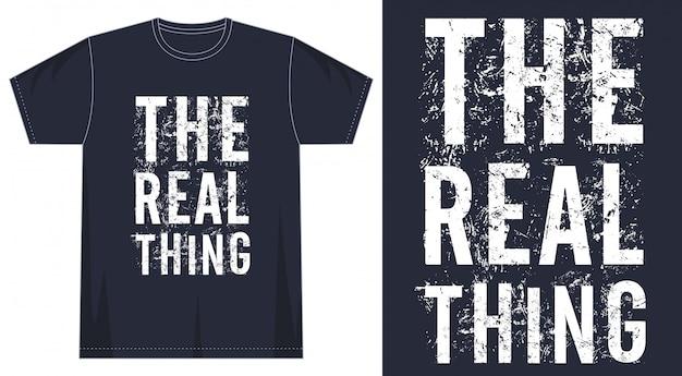 プリントtシャツの本当のタイポグラフィ