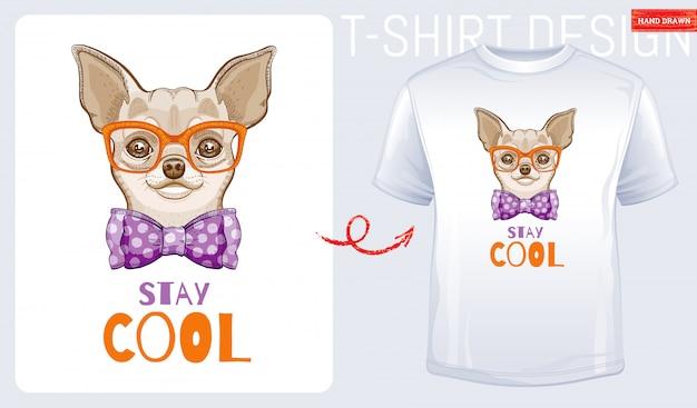 かわいいチワワ犬のtシャツ
