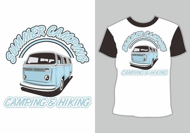 Tシャツヴァンキャンピングカー