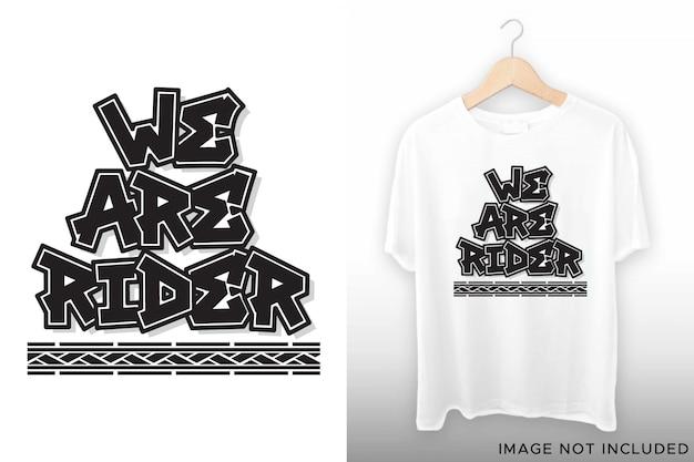 Tシャツデザインのライダーレタリング