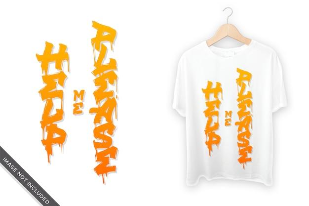 Tシャツのデザインの手書きをお願いします
