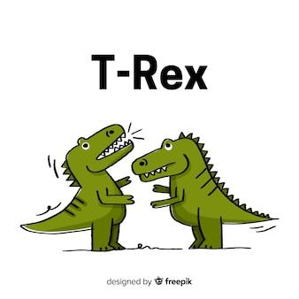 手描きのtレックスの背景