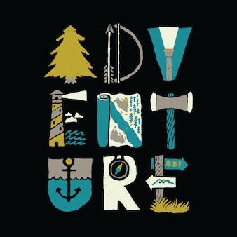 いい感じタイポグラフィグラフィックイラストベクトルアートtシャツデザイン