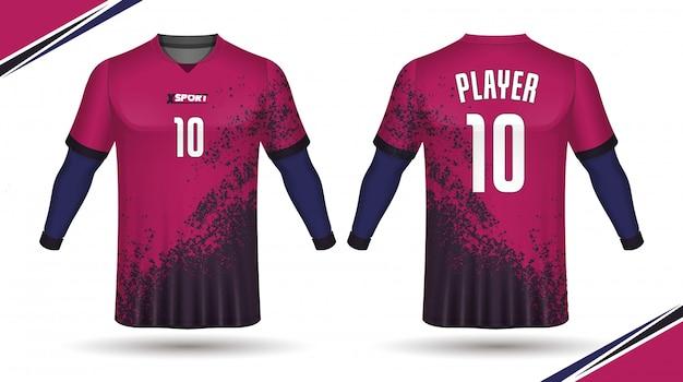 サッカージャージテンプレート - スポーツtシャツデザイン