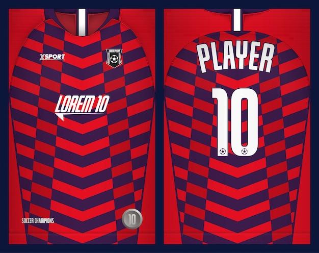 サッカージャージテンプレートスポーツtシャツデザイン