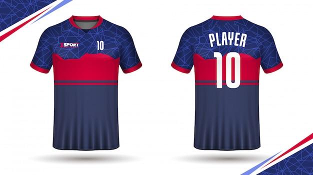 サッカージャージテンプレートスポーツtシャツ