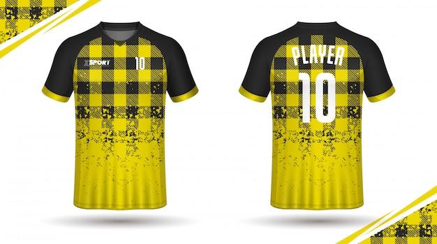 サッカージャージーテンプレートスポーツtシャツ