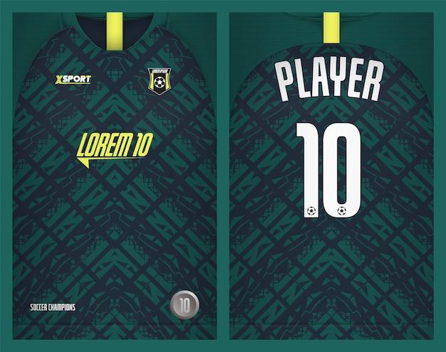 サッカージャージーテンプレートスポーツtシャツデザイン