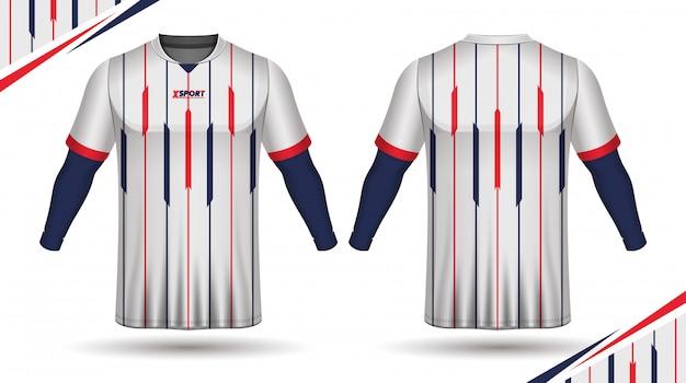 サッカージャージーテンプレートスポーツtシャツテンプレート