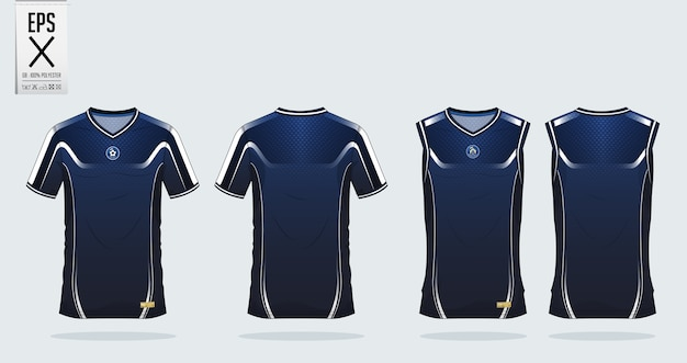 Tシャツスポーツデザインテンプレート。