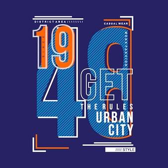 タイポグラフィー番号プリントされたtシャツのクールなデザイン