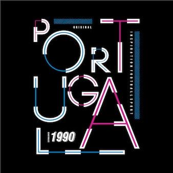 ポルトガルのタイポグラフィデザインtシャツ