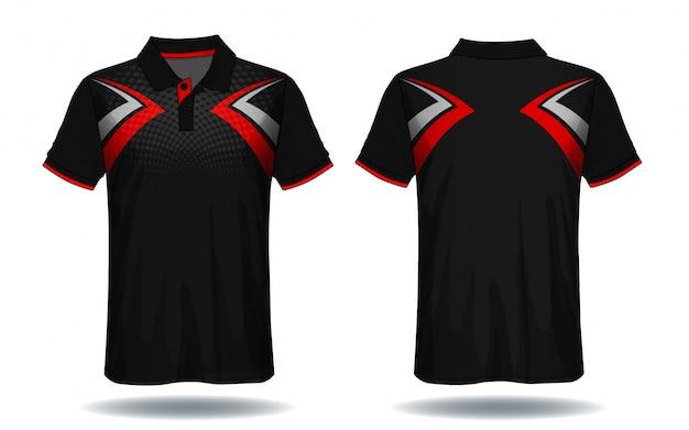 Tシャツのポロデザイン、スポーツジャージーのテンプレート。