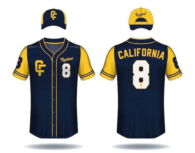 野球のtシャツをモックアップ。