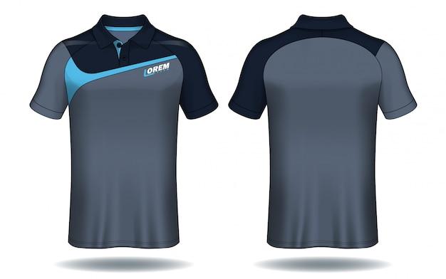 Tシャツのポロシャツ、スポーツジャージーのテンプレート。