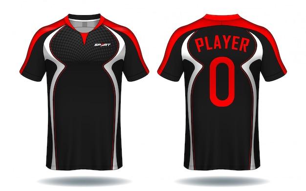 サッカージャージスポーツtシャツ。