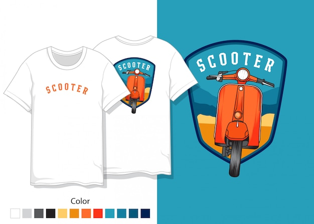 スクーターtシャツデザイン