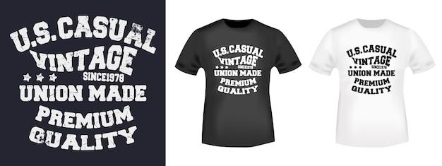 カジュアルなtシャツプリントデザイン