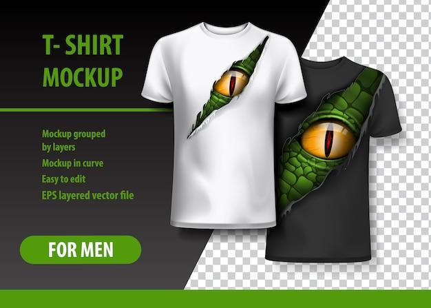 Tシャツテンプレート、完全に編集可能