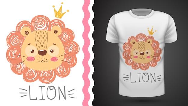 かわいいライオンのtシャツ