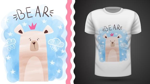 水彩クマ - プリントtシャツのアイデア