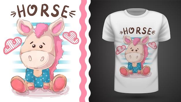 テディホース-プリントtシャツのアイデア