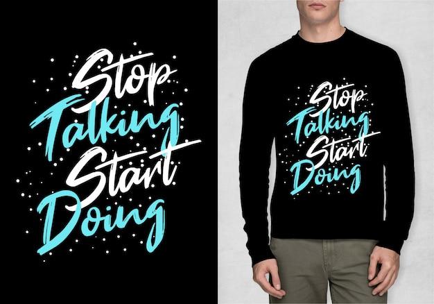 Tシャツのインスピレーションのタイポグラフィ
