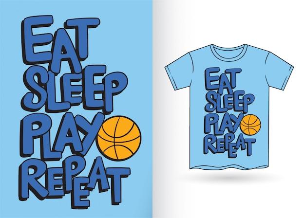 Tシャツのタイポグラフィスローガン