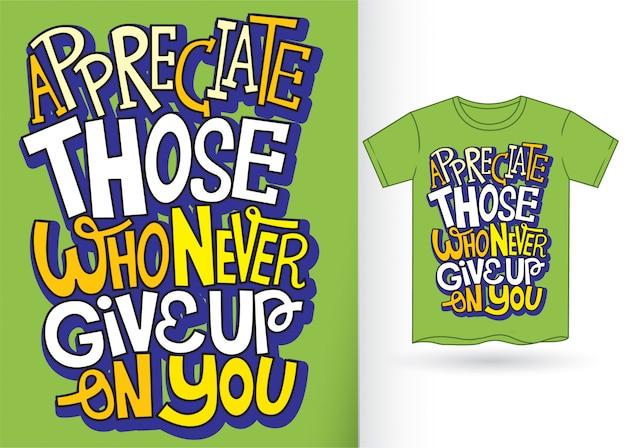 Tシャツのタイポグラフィレタリング