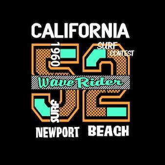 カリフォルニアtシャツグラフィックベクトル