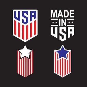 Tシャツデザインのための米国シンボル
