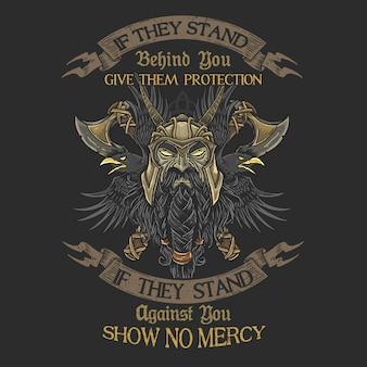 ベテラン戦士の誇りない慈悲tシャツグラフィック