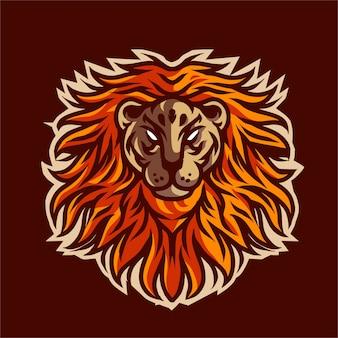 Tシャツのライオンイラスト