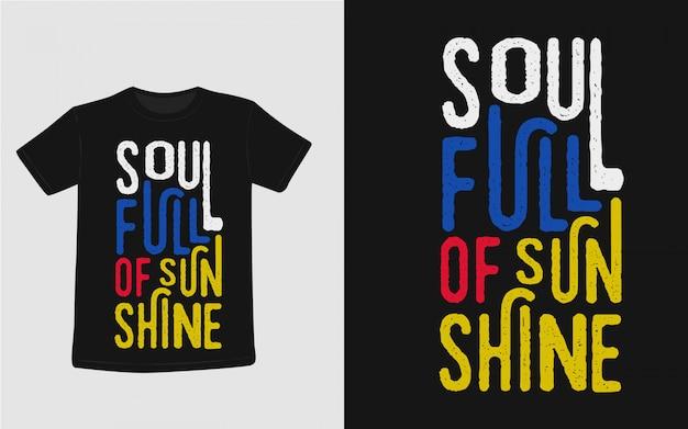 Tシャツデザインの動機付けの引用符をレタリング