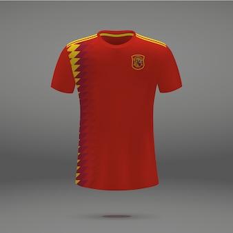 スペインのサッカーキット、サッカージャージのtシャツテンプレート