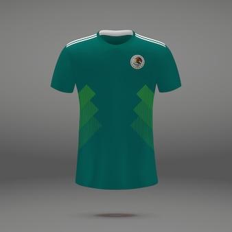 メキシコのフットボールキット、サッカージャージのtシャツテンプレート