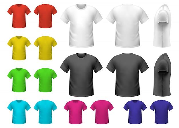 カラフルな男性用tシャツ