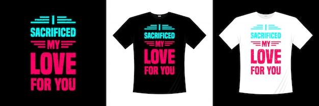 タイポグラフィのtシャツのデザインに愛を捧げました