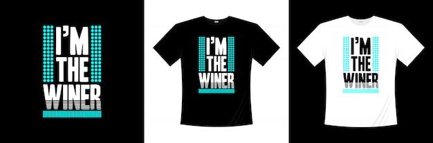 私はタイポグラフィtシャツデザインの勝者です。