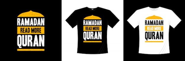 ラマダン続きを読むコーランのタイポグラフィtシャツデザイン