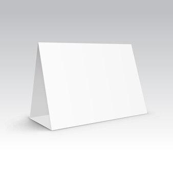 Table blank stand holder menu paper calendar card