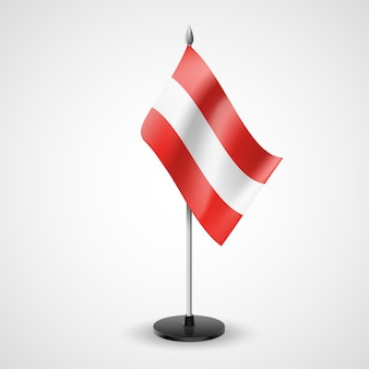 Table flag of austria