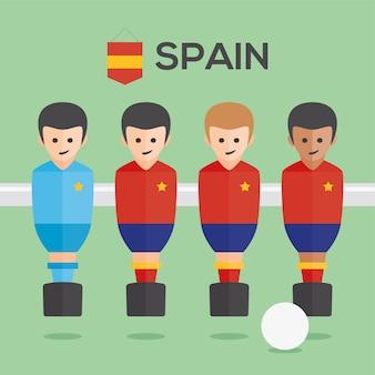 I giocatori calcio balilla spagna Vettore gratuito