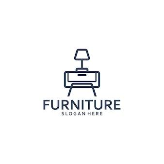 Table furniture logo template