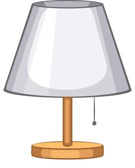 Una lampada da tavolo per l'interior design su sfondo bianco