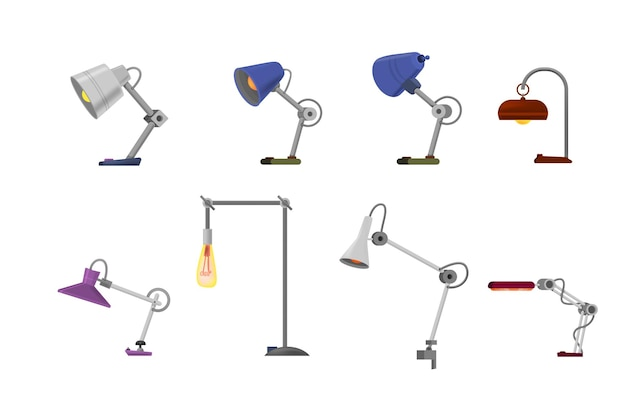 Table lamp for office cartoon style.