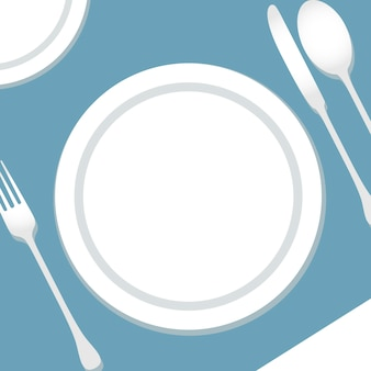 Table setting illustration